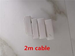led câble smiley Promotion 2m 6ft AAAA ++ câble USB de chargeur de données USB de qualité OEM avec armure tressée pour x 8 7 6 avec le paquet de vente au détail