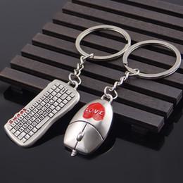 Amor PC do rato do computador teclado Casal Keychain Pendant Chaveiro Titular da chave de Apoio Anniversary Day FBA Dropshipping G656Q dos Namorados de Fornecedores de colar da coroa da rainha