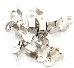 Canada 1000pcs / lot embouts de cordon en cuir fermoir embouts de perles à sertir pour la fabrication de bijoux 9x4.5mm supplier end caps crimp beads Offre