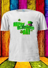 Wholesale vest short sleeve shirt - Happy St. Patricks Day Swag Tumblr T-shirt Vest Tank Top Men Women Unisex 1840