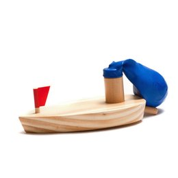 Wholesale Game Boat - The Balloons Ship Wooden Toy Simulation Boat Baby Water Game Balloon Powered Souptoys Model Set Classic Games 6ld W