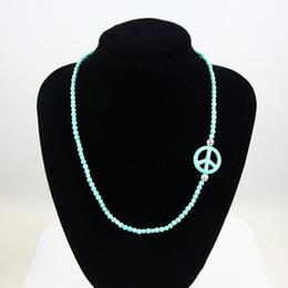 2019 jóia do sinal da paz do vintage Pulseira de pedra verde do vintage colares jóias sinal de paz longo colar pulseira talão de jóias para as mulheres nkej66 jóia do sinal da paz do vintage barato