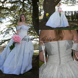 Wholesale victorian steampunk dresses - Alice in wonderland alternative wedding dresses 2018 steampunk victorian gothic pale blue silk wedding dress princess bridal gown