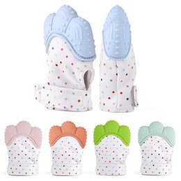 Wholesale Infant Free - Silicone Teether Baby Pacifier Glove Baby Teething Glove Newborn Nursing Mittens Teether Chewable Nursing Beads for Infant Baby VE0513
