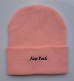 Wholesale Beaches New York - 2018 Wholesale-New York Beanie hat, wool winter knitted caps crochet hats for man and women hip hop Skullies warm knitting Beanies