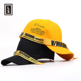 LINGSHENG Brand Long Straps Fashion Baseball Cap Hip Hop Unisex Snapback Hat  NEW Casual Outdoor Hat Bones Yellow Snapback Gorras 0d38d59b7ead