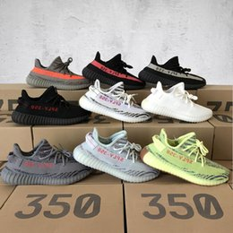 Wholesale Free Football Camps - Free Shipping Sply 350 V2 Yellow Semi Frozen Cream White Zebra Bred Black Red Beluga 2.0 Kanye West Running Shoes Sneakers