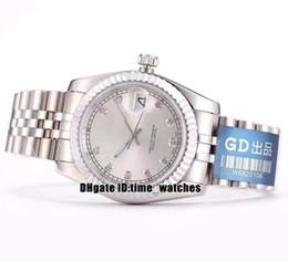 NOUVEAU 116233 Japan Miyota 8215 Montre automatique pour hommes 36mm cadran blanc boîtier en acier 316 montres pour dames Datejust Saphir Neutre montres 8 modèles ? partir de fabricateur