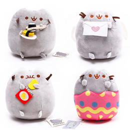 Wholesale Cookie Girl - 15cm Kawaii Fat Pusheen Cat Cookie & Icecream & Doughnut Cake Stuffed Plush Animals Toys for Kids Baby Girls Christmas Gift