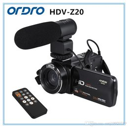 Wholesale Zoom Camera Remote Control - Ordro Hdv-z20 24MP HD 1080p Digital Camera 16 Times Digital Zoom, Can Connect The Microphone   Lights, Remote Control And Wireless Control