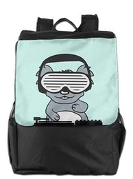 24227be8754e music backpacks Coupons - Koala Dj Party Music Celebration Headphones Funk  Outdoor Unisex Casual Backpack Daypack