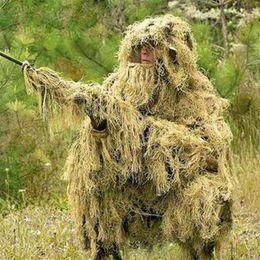 Outils de chasse jungle en Ligne-Papa Chen 3D Sniper Ghillie Costumes Vêtements De Chasse Train Jungle Chasse Ghillie Costume Ensemble CS En Plein Air Outil