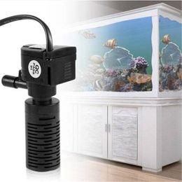 2019 tanque de filtración Envío libre ventas al por mayor Ultra silencioso 3 en 1 acuario purificador Fish Tank acuario filtro filtro construido filtración de calefacción tanque de filtración baratos