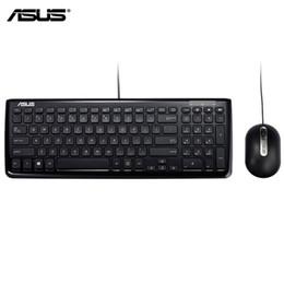 Orijinal ASUS KM-100 Klavye Ve Fare Combo Resmi Kullanım USB Kablolu Ergonomik Tasarım Ark Şekilli Kenar Asus Dizüstü Masaüstü Esports nereden