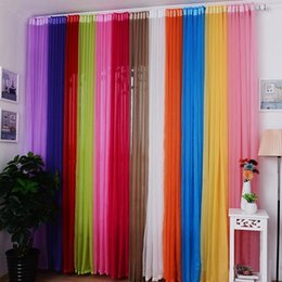 Wholesale curtains drapes for windows - Wholesale 100*200cm 13 Colors Tulle Voile Window Curtain Drape Panel Sheer Curtains for Living Room Bedroom Windows Luxury Home Decor