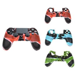 Wholesale Color Controllers - 2018 hot sales PS4 Controller Silicone Skin Case Protection Cover Camouflage Color