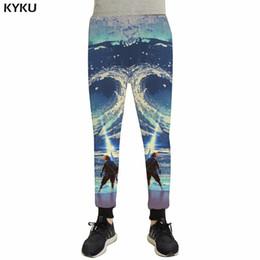 Pantalones holgados de jersey online-KYKU Sea Pants Men Character Britches Joggers Gothic Pantalones de impresión 3d Baggy Vintage Mens Pantalones Casual Fashion Anime Sweatpants