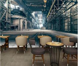 cafe wallpaper Rabatt 3D Wallpaper benutzerdefinierte Foto Wandbild Nostalgische Fabrik Lounge Bar Restaurant Café Hintergrund Wandbilder Tapete 3D Landschaft Wandteppich 3D