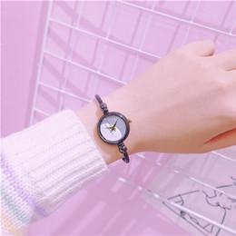 orologio più piccolo Sconti popolare donne orologio da donna braccialetto sottile catena di moda orologi elegante piccolo quadrante femminile orologio super semplice orologio da donna in acciaio