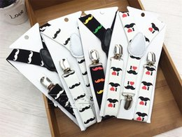2019 più bretelle colorate Multi colore bretelle per bambini per i ragazzi e le ragazze tracolle regolabili con bretelle modello di barba Trend Fashion 3 5zy Y più bretelle colorate economici