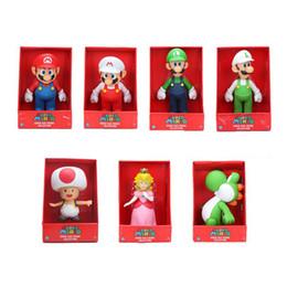 23cm Super Mario bros Figura Yoshi Peach Princess sapo Acción PVC Figura de juguete Mario Luigi figura muñeca de juguete desde fabricantes