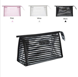 Wholesale female portable toilet - Portable Travel PVC Cosmetic Bag Bath Girls Cosmetic Case Make Up Handbag Female Waterproof Transparent Portable Package Toilet for necessia