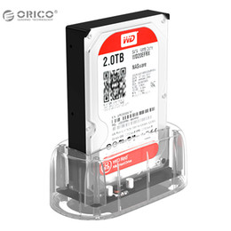 "Wholesale Hard Drive Docking Stations - ORICO 2.5""3.5"" Transparent Design USB3.0 to SATA3.0 HDD Docking Station Support 8 TB Hard Disk Drive Tool Free for Notebook PC"