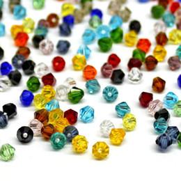 472f24519829 Crystal AB Bicone Beads 100 UNIDS   LOTE 4mm Granos de Cristal Sueltos  Checos   Cuentas de Cristal Facetado para DIY Joyería Collar Pulsera SJ007