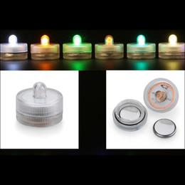 Decorazioni alti del partito di tè online-Lume di candela LED sommergibile impermeabile luci del tè potenza della batteria Decorazione candela festa di nozze di Natale Luce di decorazione di alta qualità