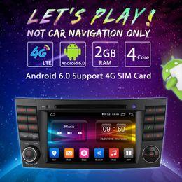"italian dvd Canada - 7"" Android 6.0 Quad Core Car DVD Bluetooth GPS Radio Navigation Head Unit For Benz E CLS CLK G Series#4620"