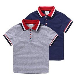Wholesale Kids Polo Shirts - High Quality New Hot Baby Boys Polo Shirt Children 'S Clothing Summer Clothes Baby Kids Child Brand 100 %Cotton Short Polo Shirt