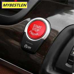 Wholesale Bmw Button - wholesale MYBSETLEN Replacement Red ABS BUTTON START cover for BMW F20 F21 F30 F31 F10 F11 1 2 3 4 5 6 7 series X1X2X3X4X5X6 car styling