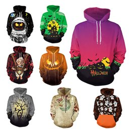 2019 trajes de dos caras Ropa de Halloween Mujer Hombre Sudaderas con capucha Sudadera de moda Sudaderas con estampado 3D Streetwear Casual Cospaly Stage Wear Customes