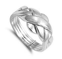 Wholesale puzzles bar - Wholesale- 925 sterling silver turkish engagement & wedding ring 4 piece band ring puzzle ring for woman, man, boy and girl size 4-12