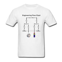 Camisa de profissão on-line-Ao ar livre dos homens de Design Exclusivo Camisetas de Engenharia de Fluxo de Engenharia dos homens Pré-algodão Engenheiro Profissão Camisa Branca Tees formal Camisa