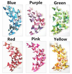 sticker toilet Coupons - 3D Butterfly wall stickers home decor Sticker on the Art Wall decal Mural for vintage Home appliances kids rooms 12pcs bag