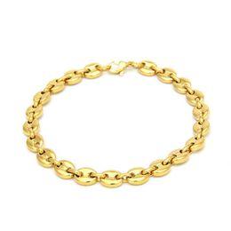 2019 pulseras únicas para hombres Nueva moda de diseño único para hombre, pulsera de cadena, chapado en oro amarillo, pulseras de acero inoxidable 316L para hombres, cadera, joyería, bonito regalo pulseras únicas para hombres baratos