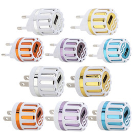Wholesale Sunflower Style - 5V 1A US Eu Ac home travel wall charger sunflower Style Colorful power adapter for iphone 6 7 8 x Samsung s7 s8 android phone mp3