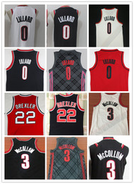 Venta al por mayor online-NCAA 2018 Nuevos hombres # 0 Damian Lillard Jerseys 3 # CJ McCollum bordado 22 # Clyde Drexler camisas al por mayor barato cosido baloncesto Jersey