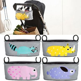 Wholesale Baby Carriage Bag - 6 Colors Baby Stroller Hang Bags Nappy Diaper Bag Carriage Hanging Sundries Basket Storage Organizer Stroller Accessories WX9-543