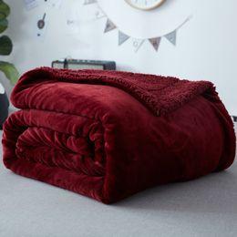 2019 sofás de tecido Vinho tinto ouro arminho villus / berber velo tecido atualizado cobertor de flanela para o inverno / outono, adulto multi-tamanho cobertor do sofá de lã sofás de tecido barato