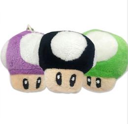 Super mario cogumelos de pelúcia on-line-1000 pcs 7 cm Super Mario Bros Cogumelo Com Chaveiro De Pelúcia Boneca de Brinquedo crianças presente Clássico Pingente Livre grátis