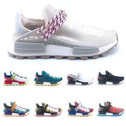 size 40 3f77b adb2f Adidas NMD Nouveau Course humaine trail solaire Afro Pack Chaussures De  Course Hommes Femmes Creme Nerd Pharrell Williams HU Coureur SOLARHU  Baskets Sport ...