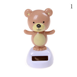 Wholesale Solar Powered Dancing Toys Wholesale - Wholesale- New solar power to dance style solar toys Children's toy car inner decoration home decoration beautiful Christmas gifts