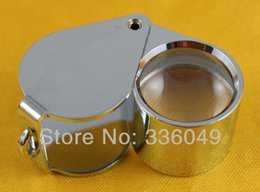 Wholesale foldable magnifier - Triplet lens Loupe Magnifier 10x 20x 30x Jeweler Diamond Loupe Quality Magnifying Glass Foldable Eye Magnifier Optical Lenses