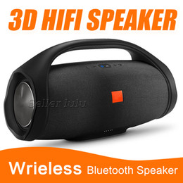 Wholesale bluetooth speaker hifi - Nice Sound Boombox Bluetooth Speaker Stere 3D HIFI Subwoofer Handsfree Outdoor Portable Stereo Subwoofers With Retail Box