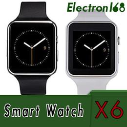 Nuevo reloj inteligente Bluetooth Smart Watch X6 E6 sportwatch para iPhone ios Android Phone con cámara compatible con tarjeta SIM smartwatch teléfono celular desde fabricantes