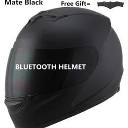costruire la bici Sconti Lente di Bluetooth del motociclo del casco bici scuro con built-in Intercom music phone chiamata compagno nero S M L XL