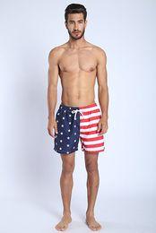2019 modelo de ropa interior rosa Verano Flamingo EE. UU. Flag Anchor Beach Trajes de baño para hombre Traje de baño de secado rápido Hombre Fashion Beach Shorts K805 S-XL 6 color