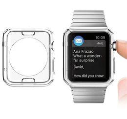 cassa piena libera del tpu di cristallo Sconti Custodia TPU NOT Full Cover per Apple Watch Series 4 iwatch 4 40mm 44mm Crystal Clear TPU Soft Cover